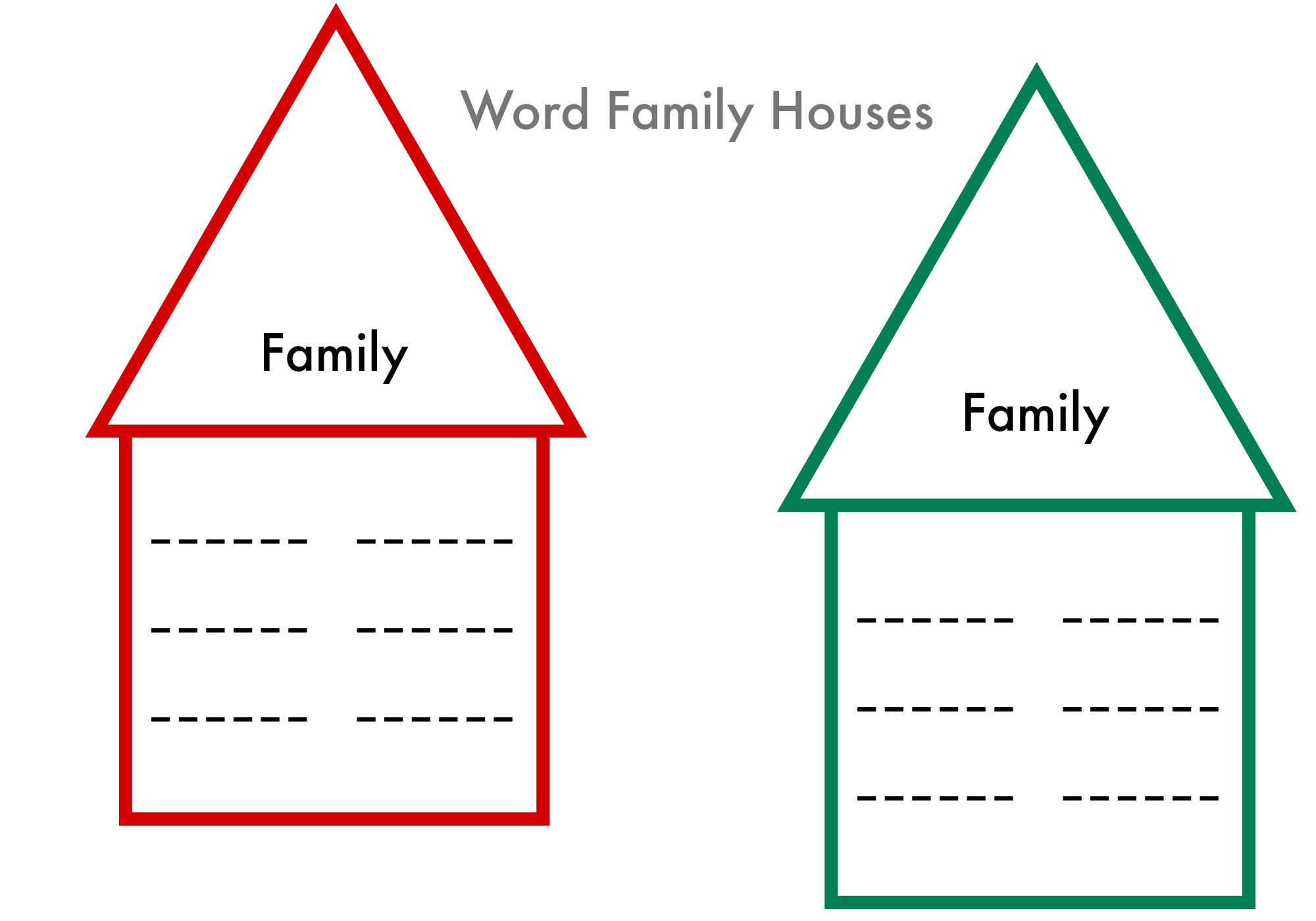 Printable Word Family Worksheets : Word families printable write wipe no time for