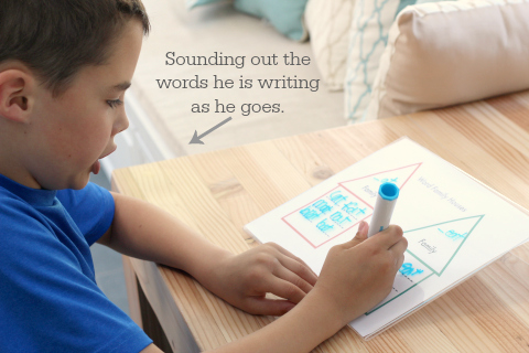 word family houses spelling and reading