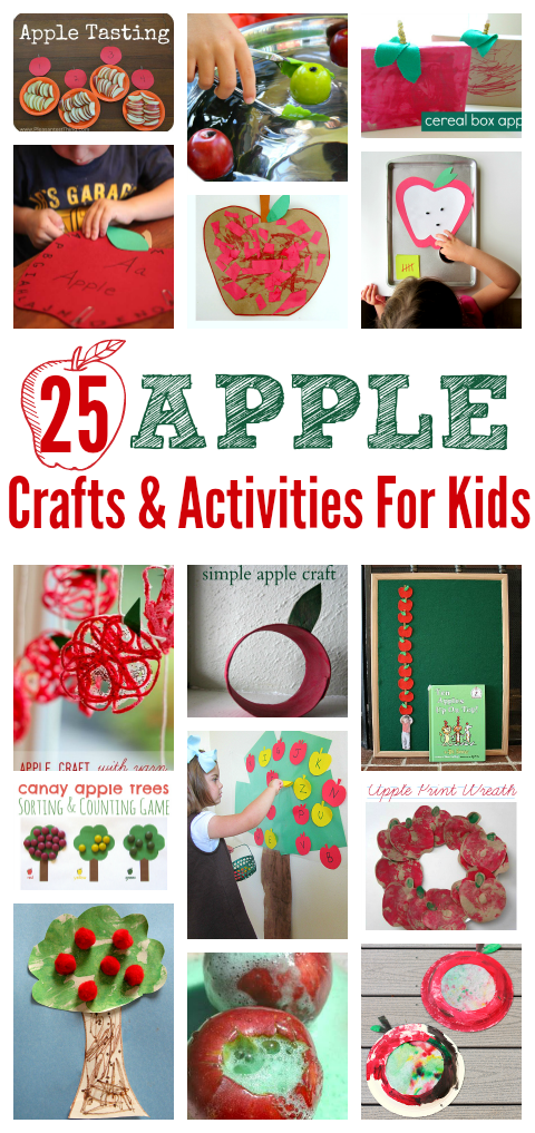 Apple Crafts Activities For Preschool No Time For Flash Cards