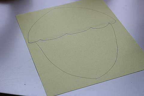 acorn craft for kids drawing