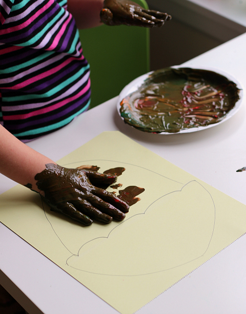 acorn painting for preschool