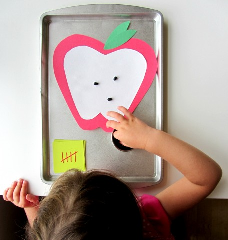 apple seed math for preschool