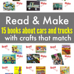 15 Books About Cars and Trucks with Crafts To Match!