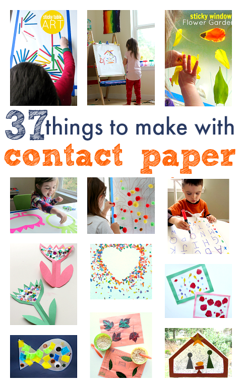 37 Things To Make With Contact Paper No Time For Flash Cards