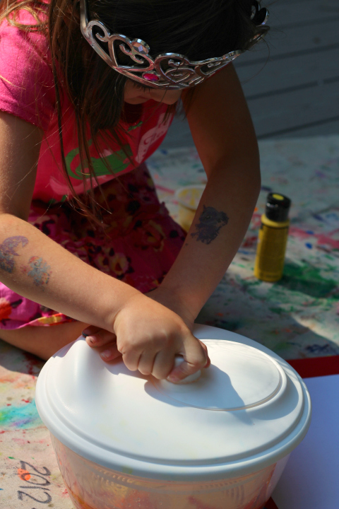 fall art spinner painting