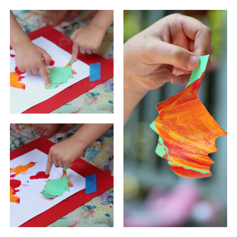 fall leaves art for kids