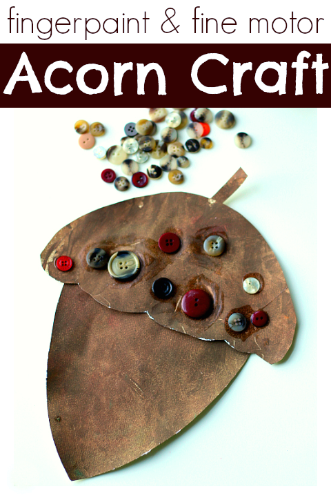 fingerpaint acorn craft