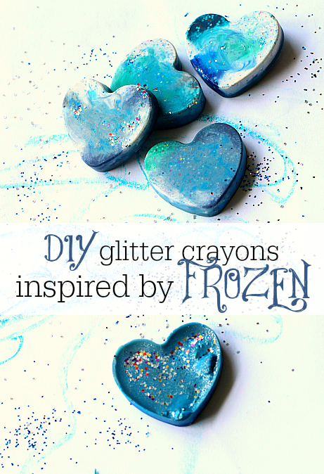 recycled crayon favors for frozen themed party