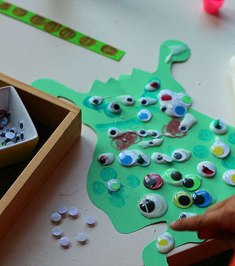 googly eye monster math activity for kids