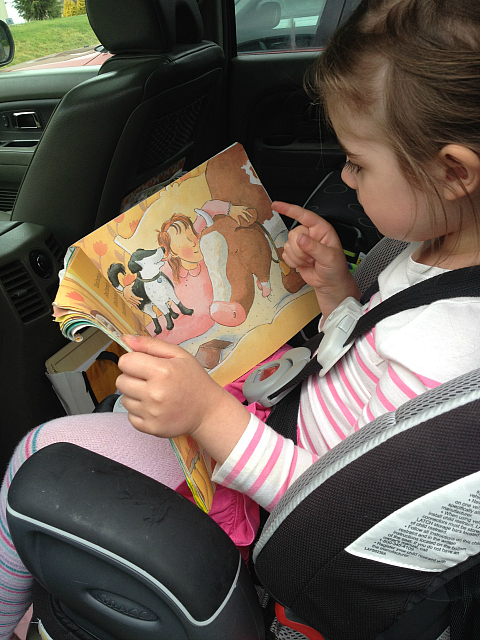 learning in the car on busy days