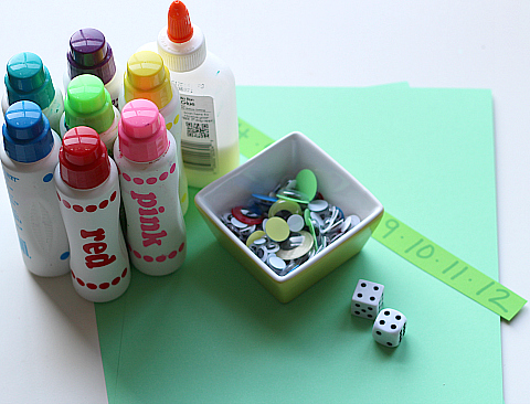 math monster craft supplies