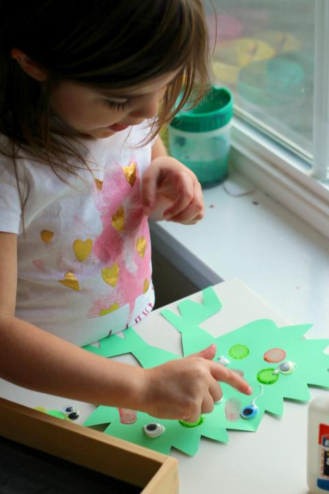 monster math craft for preschool