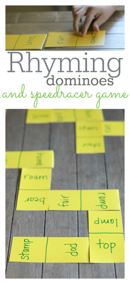 rhyming game for kindergarten