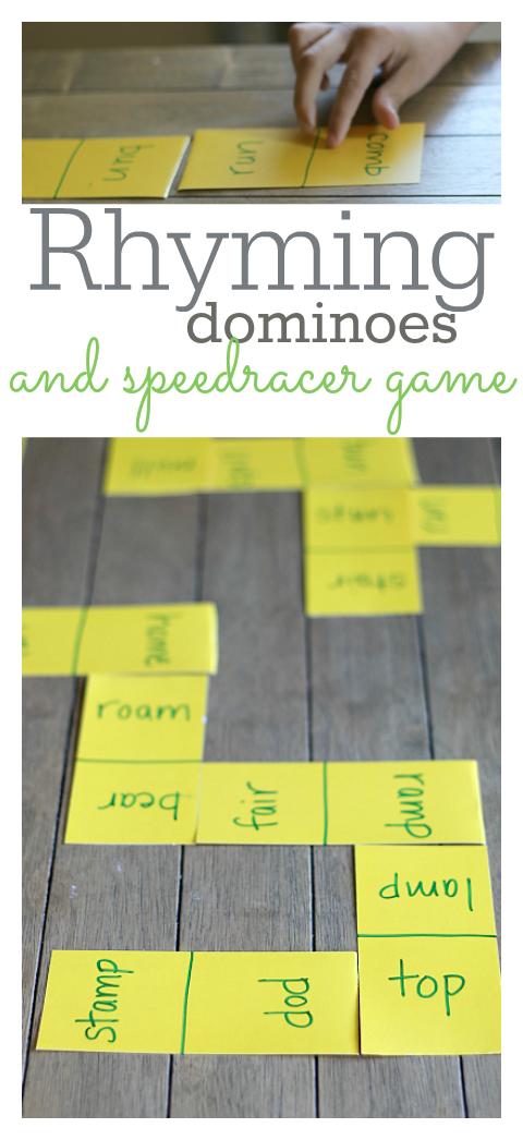 rhyming game for kindergarten