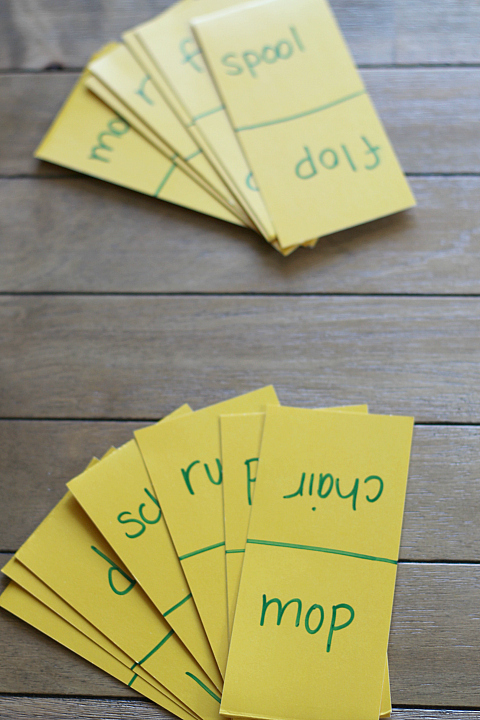 rhyming game for preschool and kindergarten