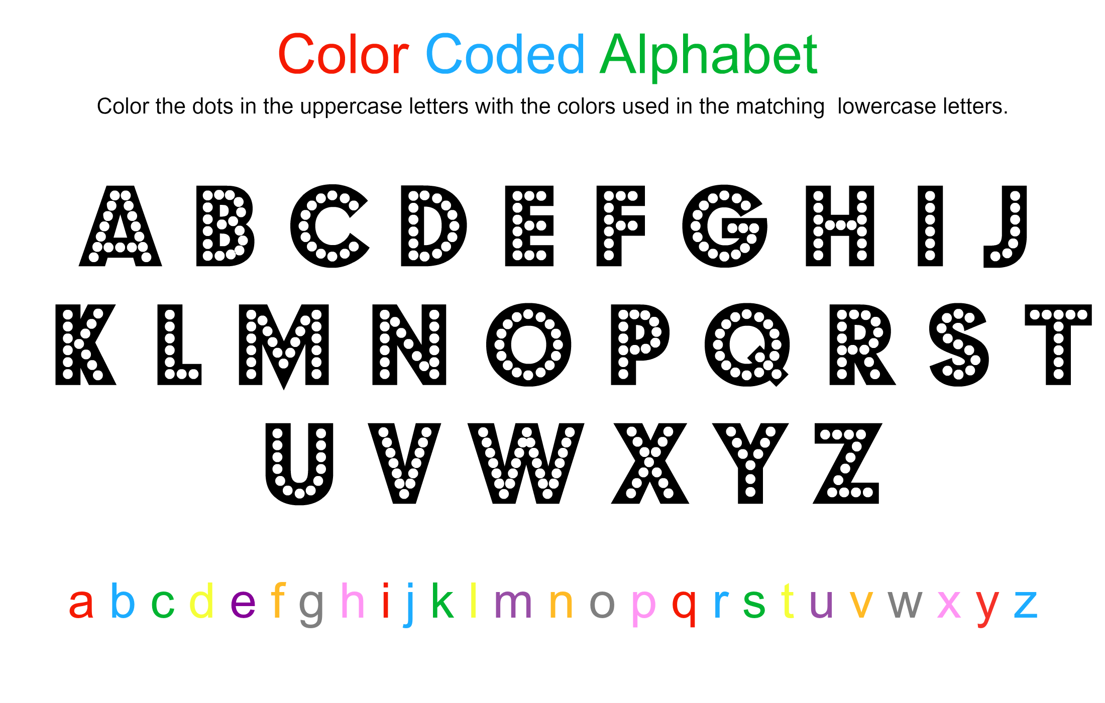 alphabet coloring sheet free printable no time for flash cards
