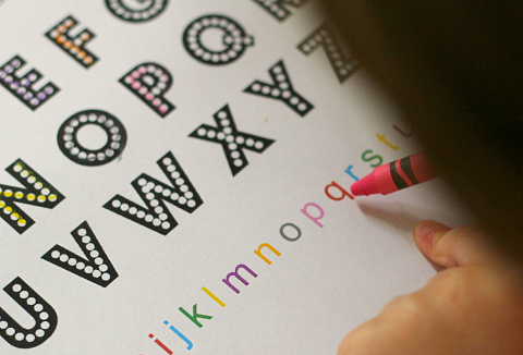 alphabet printable coloring sheet