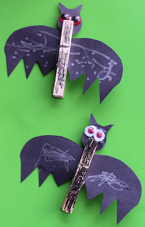 clothes pin bat crafts