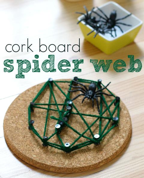 spider web craft for halloween