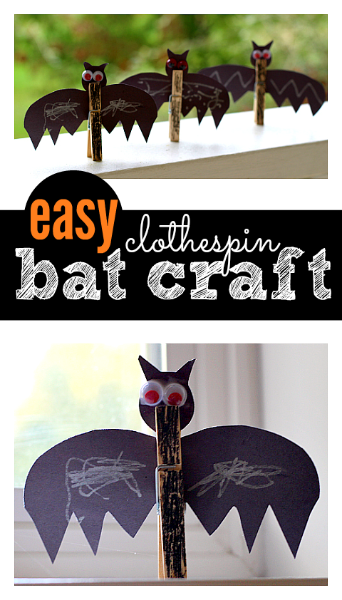 Easy Bat Craft - No Time For Flash Cards