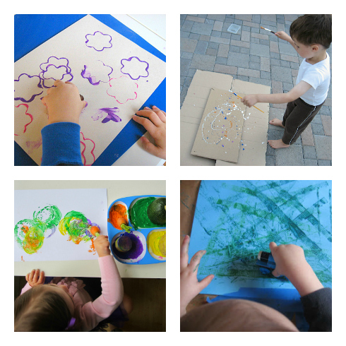 easy painting ideas for toddlers
