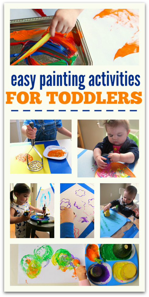 Easy Painting Activities For Toddlers No Time Flash Cards