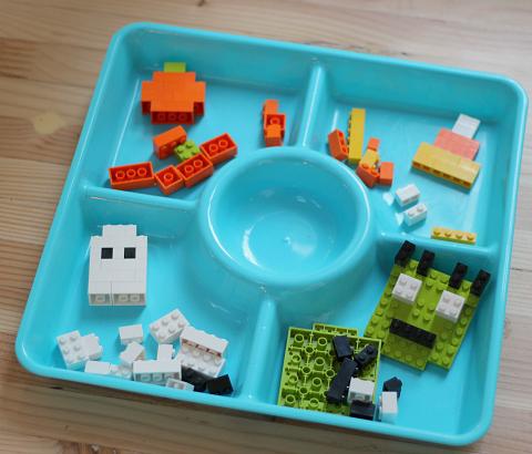 halloween Lego challenge for preschool