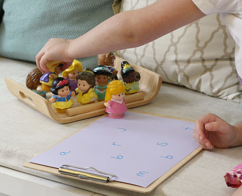 letter sound matching game with princesses