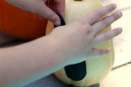 no mess ghost pumpkins