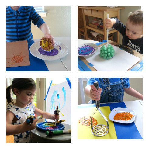 painting ideas for young toddlers
