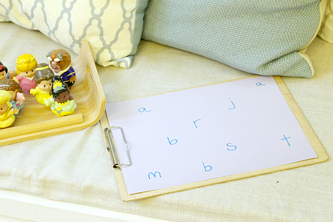 princess letter sounds activity for kids