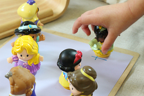 princess letter sounds matching game