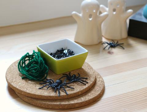spider web craft supplies