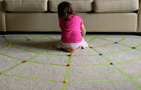 spider web walking game for kids
