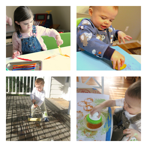 toddler printing and painting ideas for preschool