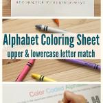 Alphabet Coloring Sheet – Free Printable