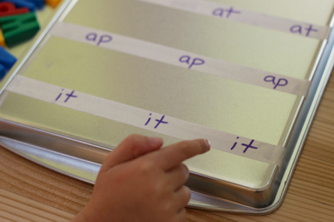word building with magnets