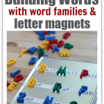 Word Building With Letter Magnets & Word Families