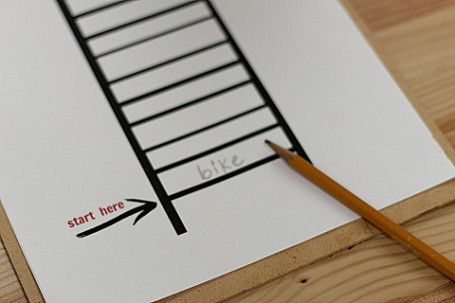 word ladder printable for after school activity