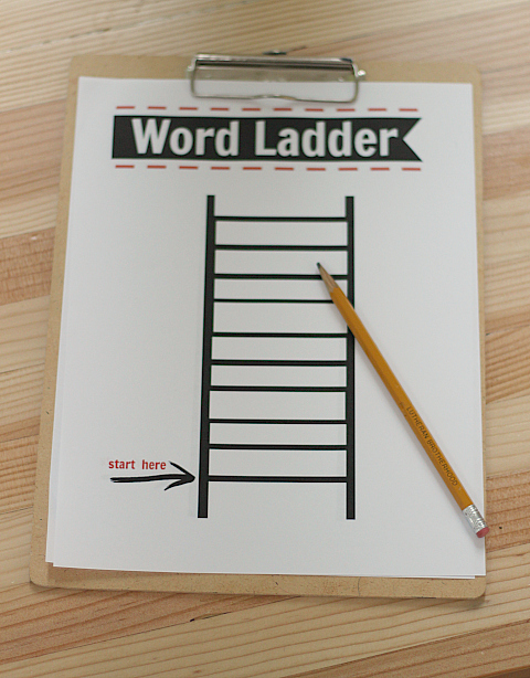 After School Activity Word Ladders Printable Free No Time