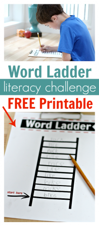 word ladders literacy activity