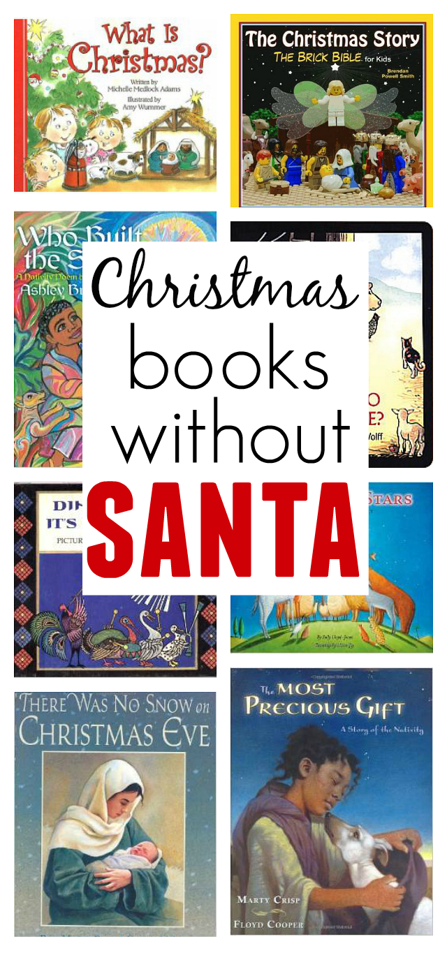 Christmas Books Without Santa - No Time For Flash Cards