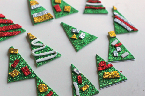 Christmas tree pencil toppers for class gifts