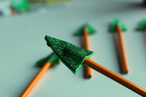 Christmas tree pencil toppers for school class gifts