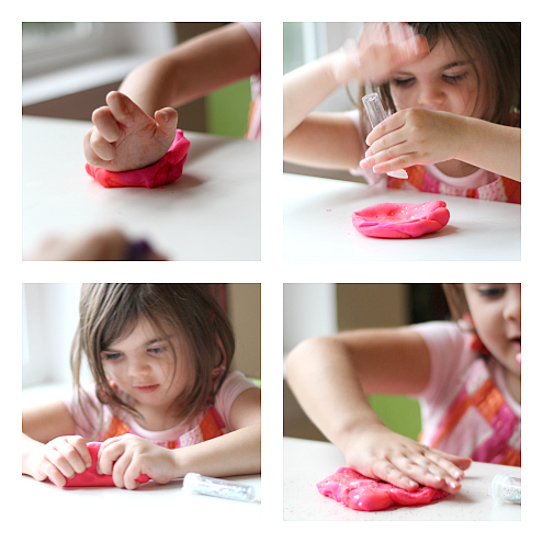 Princess playdough activity for preschool