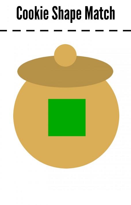 cookie shape match square jar