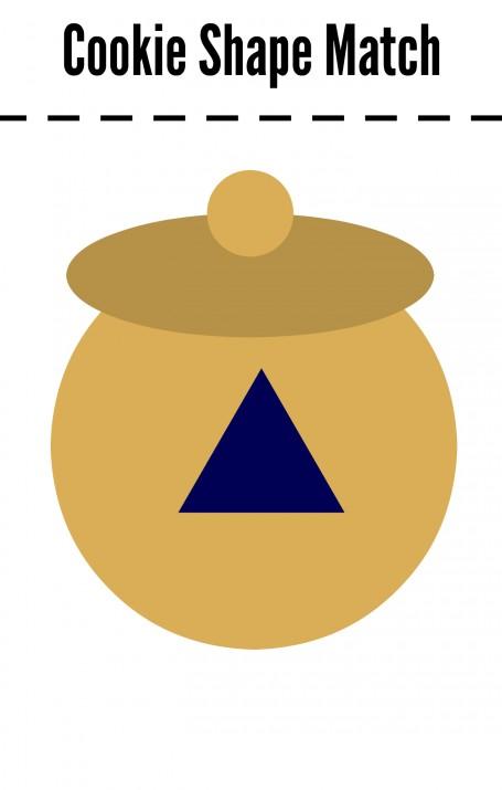 cookie shape match triangle jar