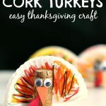 Cork Turkey – Easy Thanksgiving Crafts