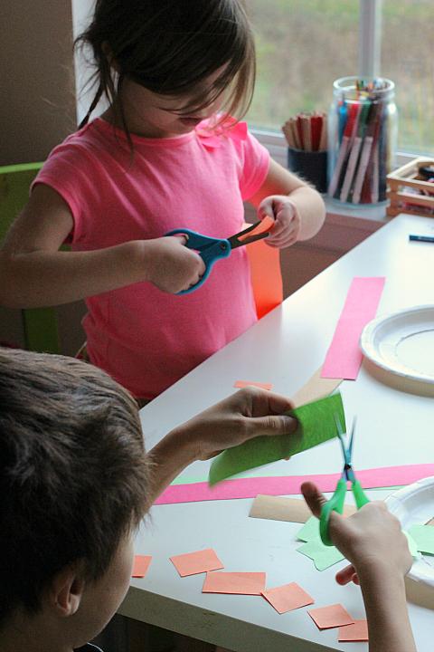 cutting practice thanksgiving wreath for preschool