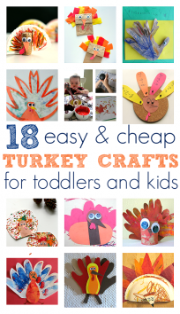 'easy turkey crafts' from the web at 'https://www.notimeforflashcards.com/wp-content/uploads/2014/11/easy-turkey-crafts-for-toddlers-and-kids--204x354.png'
